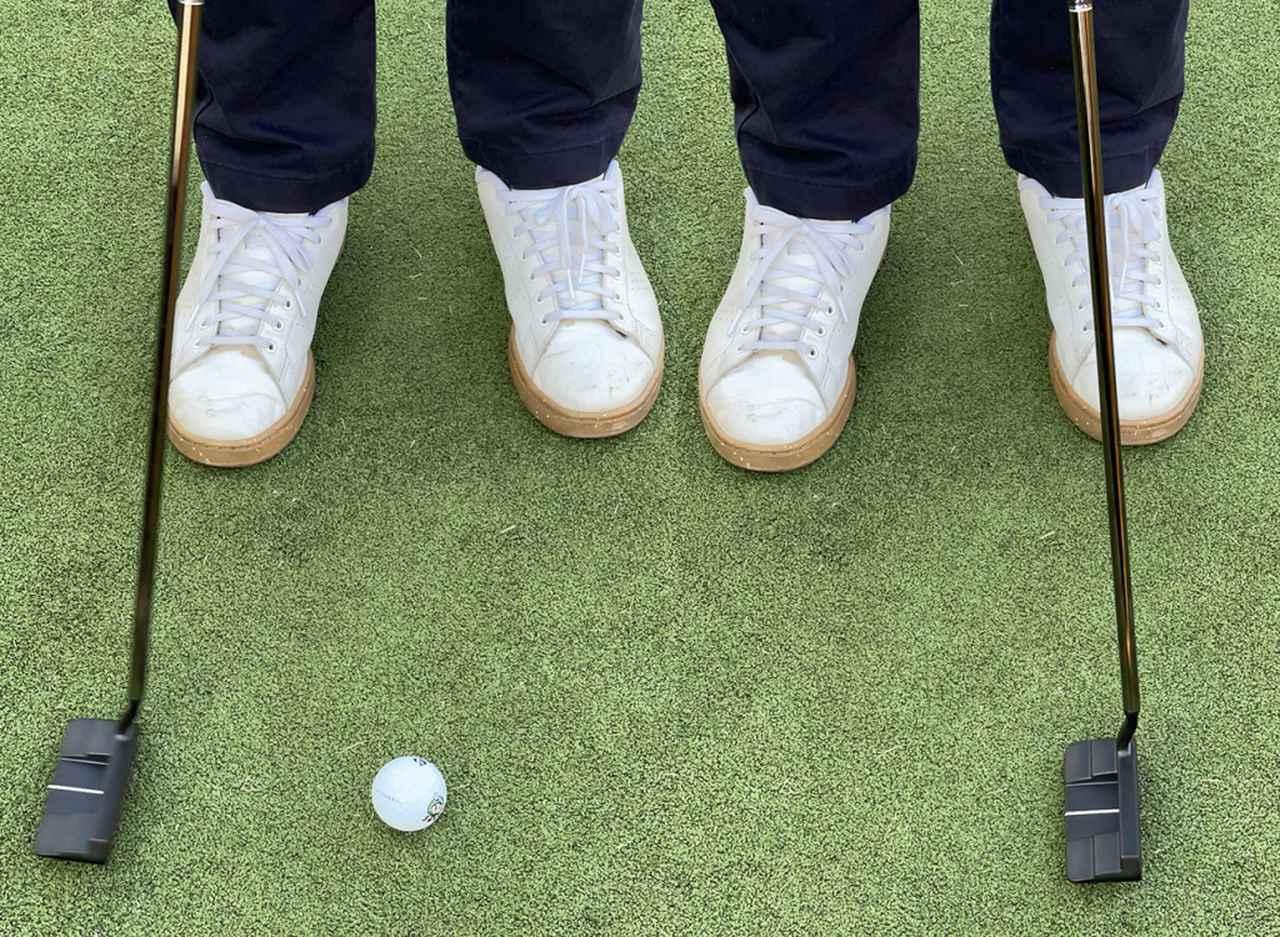 画像: インパクトで終わりくらいのイメージでストロークすると、ボール1個分くらいのフォローで打つことができる