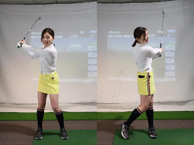 画像: 肩から肩までのスリークウォーターの振り幅でしっかり振り切ることが大事