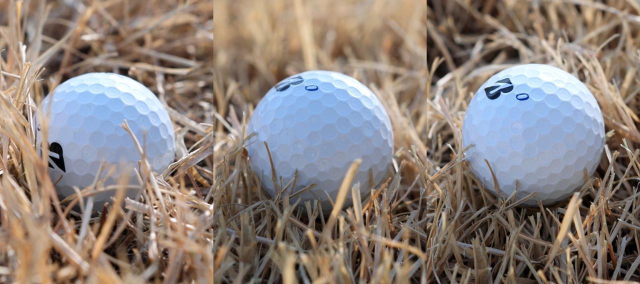画像: スピンのかかりやすさはボールと地面の間にヘッドを入れていくスペースがどれだけあるかで変わると伊澤。ボールが沈み込んでいるとスピンもかけづらく(写真左)、写真中、右とボールの浮き度合いが強くなっていくにつれかかりやすくなる