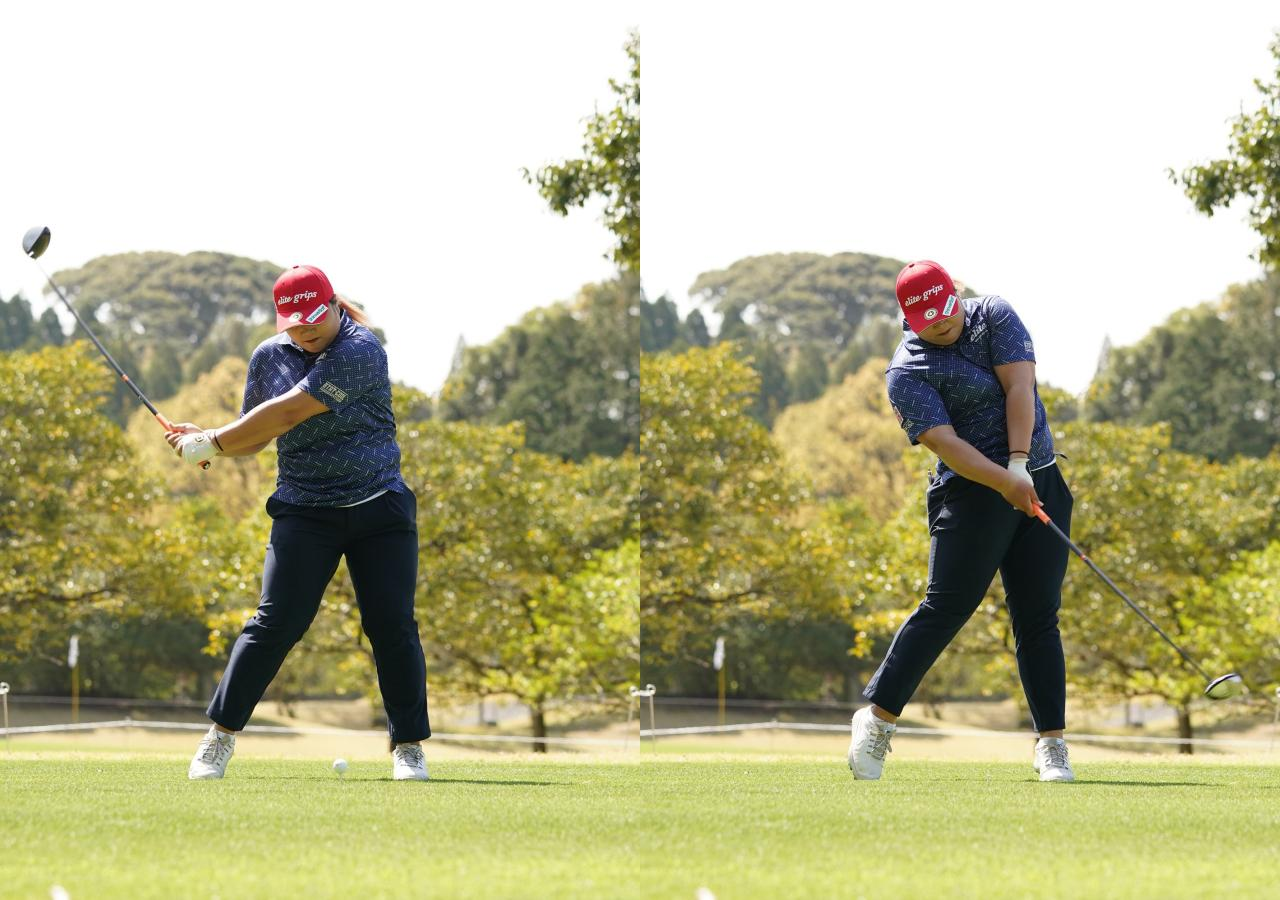 画像: 画像C:インパクト前後の動きがスムーズになれば飛距離を大きく伸ばせる可能性は大きい