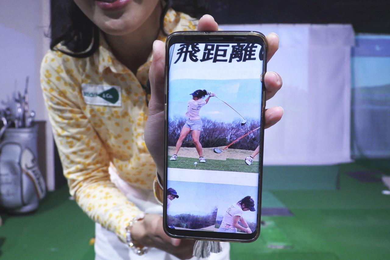 画像: 数年前に週刊ゴルフダイジェストで取材された際の小澤のスウィングのトップ。現在は少しだけ小さなトップになっているとのこと