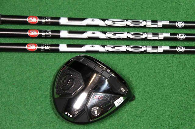 """画像: LAゴルフ「TRONO 65S」シャフト(写真上)とSYB「EG-05」ヘッド(写真下)を組み合わせた""""ハードヒッター向けカスタム""""をプロが試打!"""
