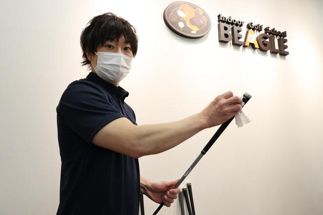 画像: レンタルクラブは毎回スタッフが1本1本消毒しているので、初心者ゴルファーも安心して使えますね!