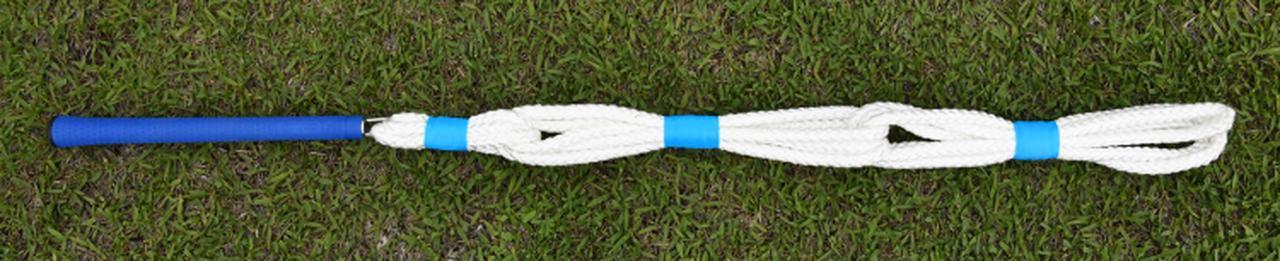 画像: 高い耐久性のエラストマーグリップ 手元部は3重ロープ 中間部は3重ロープ 先端部は4重ロープで程よい重さを感じられる