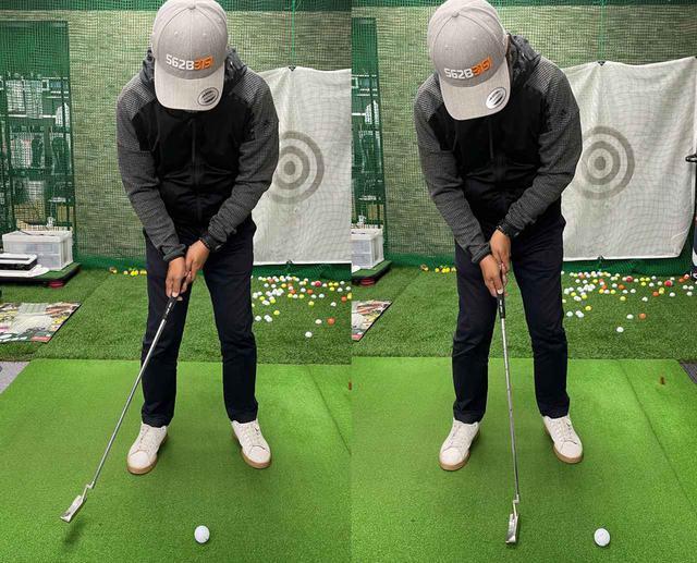 画像: 手だけでやろうとすると、ヘッドを止めることが難しいので、どうしてもボールにヘッドが当たってしまう