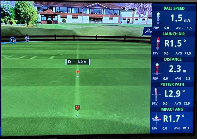画像: 「PRACTICE」は平らなグリーン上で距離感の練習。数値が1球ずつ確認できるのは嬉しいし、練習になる!