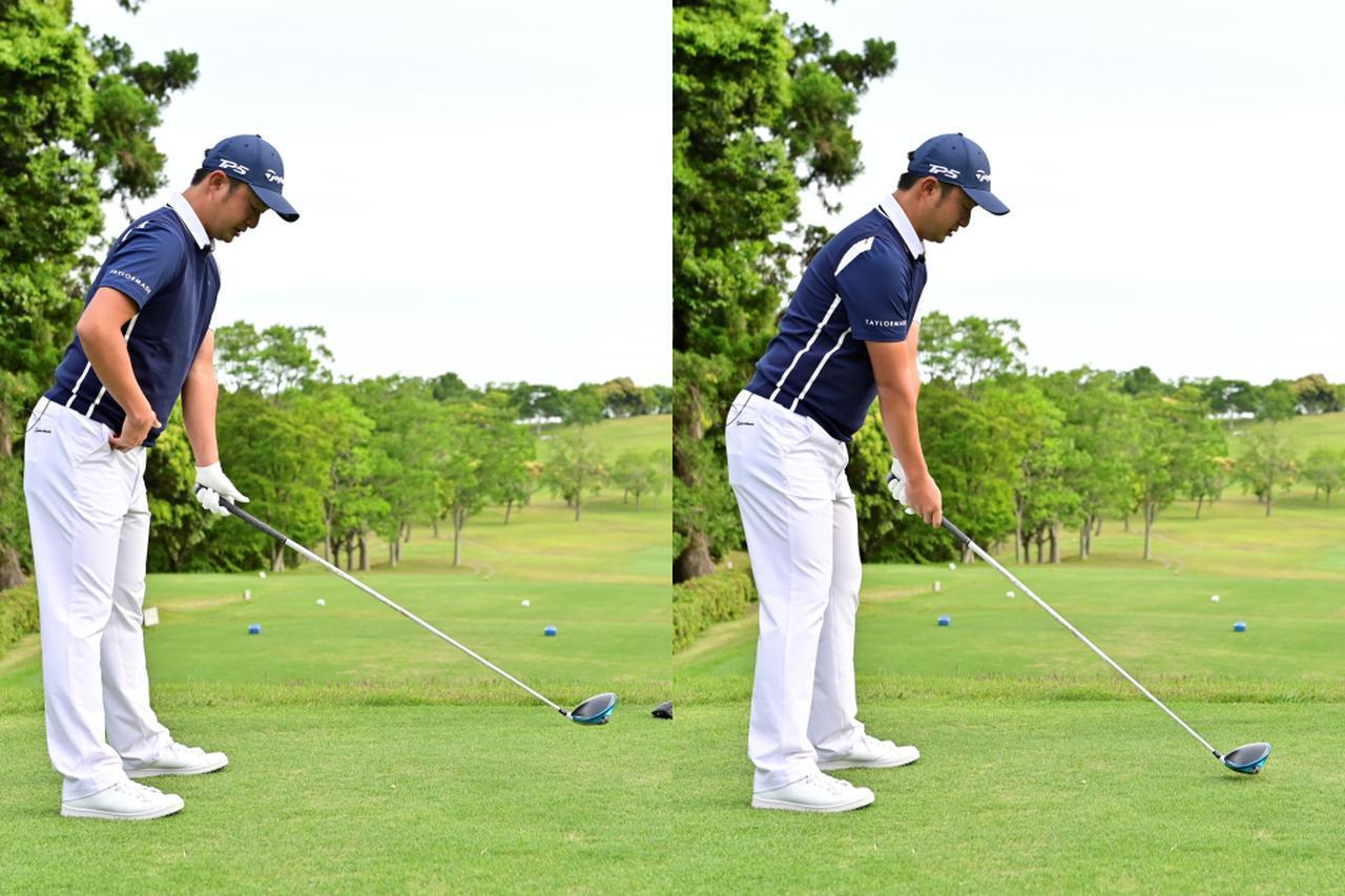画像: 前傾姿勢を作る際は、まず股関節から上半身を傾け、そこからひざを少し曲げるのが正解