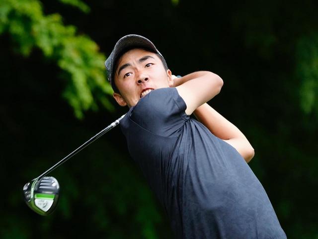 画像: アマチュア枠で日本ゴルフツアー選手権に出場し、初日を3アンダー6位タイで終えた杉原大河(撮影/岡沢裕行)