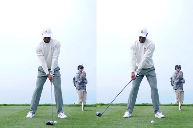 画像: アドレスからテークバックにかけての動き。左手の背屈がやや深め(写真はファーマーズインシュランスオープン2020 撮影/姉崎正)