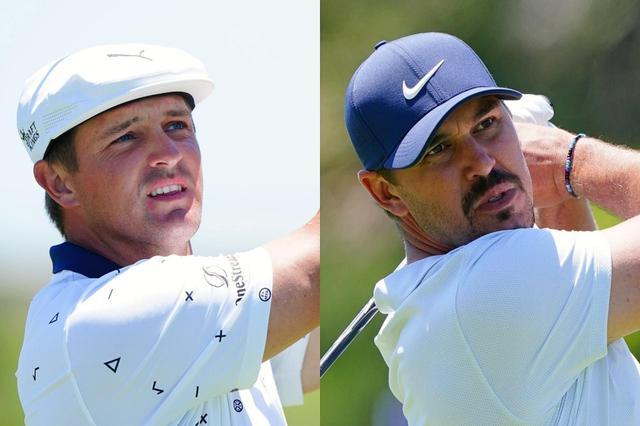 """画像: ブライソン・デシャンボー(左)とブルックス・ケプカ(右)。今週末開催の海外メジャー「全米オープン」での活躍が目される2選手の間で""""コース外バトル""""が激化している(写真は2021年の全米プロゴルフ選手権 撮影/Blue Sky Photos)"""