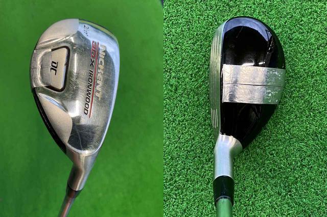 画像: 転がし専用UT。17度とロフトの立ったヘッドに鉛を貼り、ネック内にも鉛を入れることで重量を調整