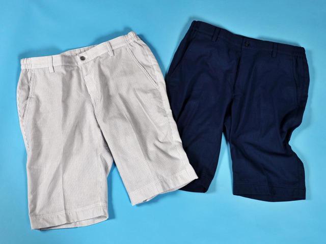 画像1: 名門コースの夏ゴルフにも!「履くタオル ゴルフ用ハーフパンツ」