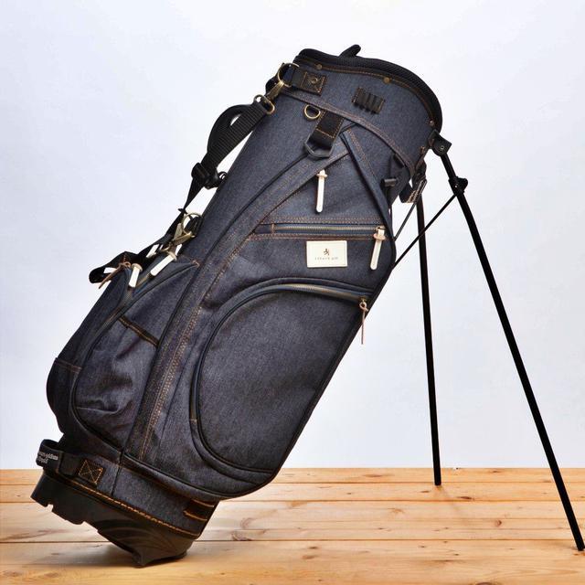 画像: 【育てるキャディバッグ】デニム スタンドキャディバッグ Lahella golf ゴルフダイジェスト公式通販サイト「ゴルフポケット」