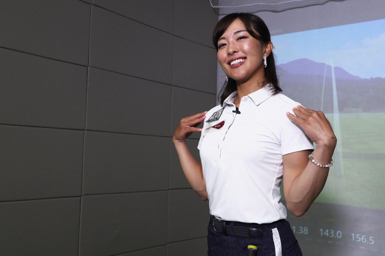 画像: 教え上手の小澤美奈瀬に飛ばしのアドレスを教わった。ポイントは肩⁉