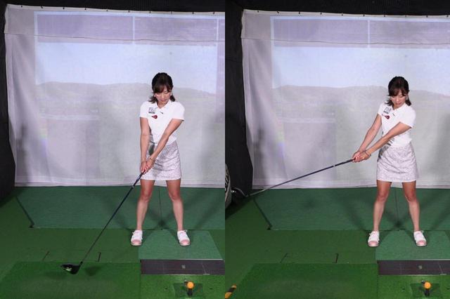 画像: フェースがボールの方向を向き続けるイメージでクラブを上げていくと、スクェアな状態を保てるという