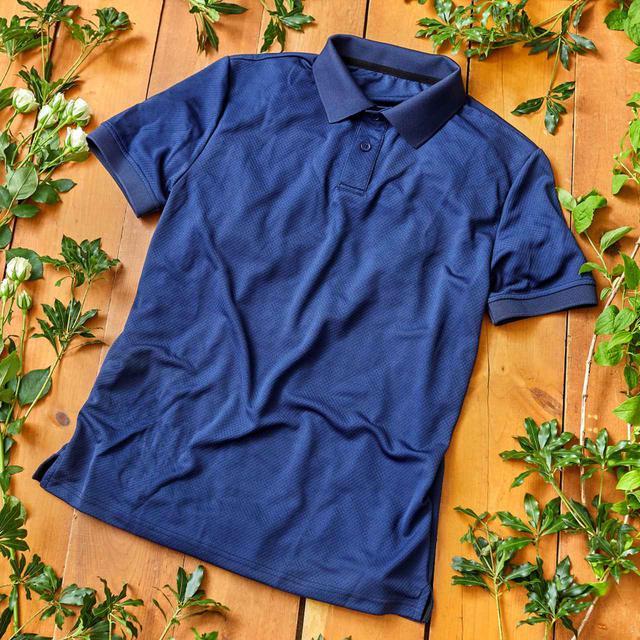 画像1: 抗ウイルス・虫よけ・冷却 プロテクトポロシャツ