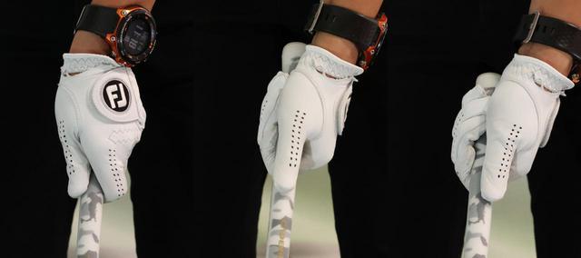 画像: 左からストロンググリップ、スクェアグリップ、ウィークグリップ。左手の握り方は大きくわけて3種類だ