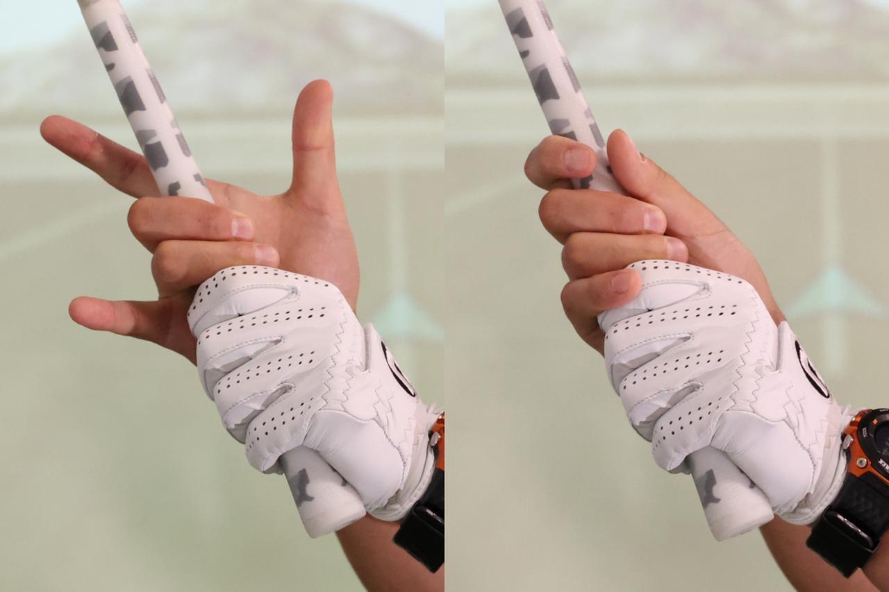 画像: 右手は中指と薬指を中心に握り、ほかの3本の指は添える程度でオッケー
