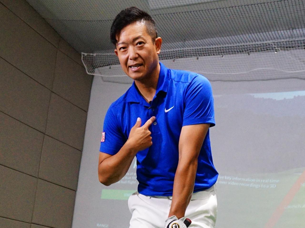 画像: 吉田が右手で示している位置が胸骨のある位置だ