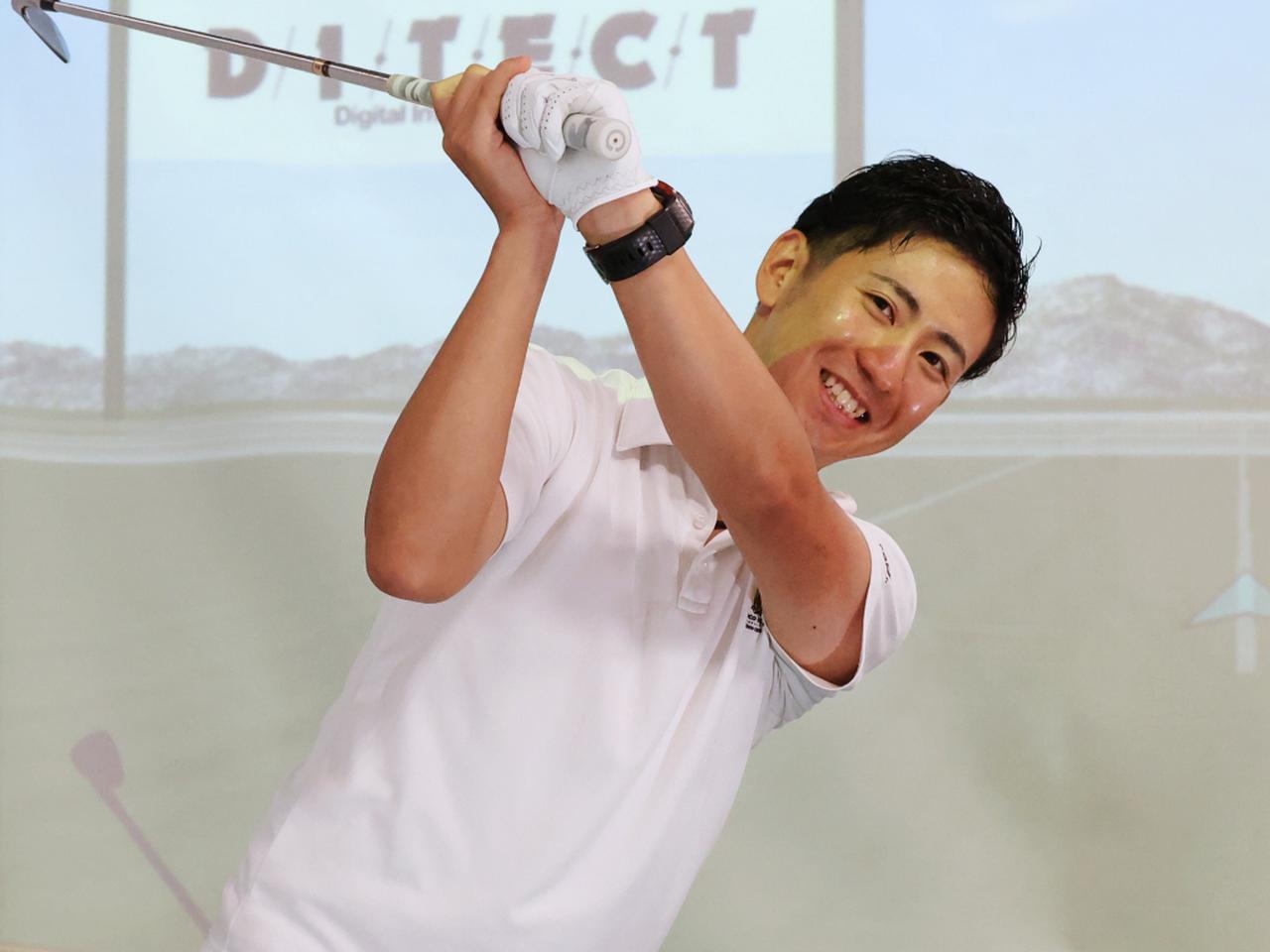 画像: バックスウィングで右ひじを曲げるタイミングはいつ? 福田慈英コーチに教えてもらおう