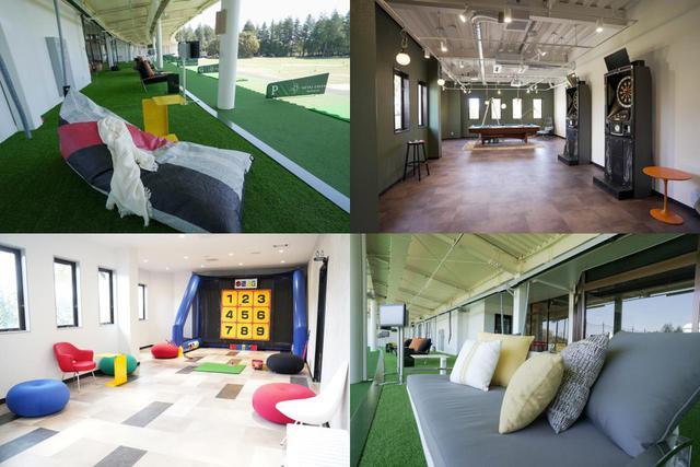 画像: 1階は既存ゴルファーが楽しめる空間、2階はエンタメ要素を強いエリアを作ったと礒﨑氏。ゴルフ以外にダーツやビリヤード、そして子供が気軽に遊べるスナッグゴルフコーナーも(写真提供/ROYAL GREEN Mito)