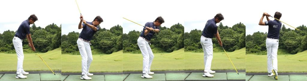 画像: みんなのゴルフダイジェスト編集部のプロゴルファー・中村修によるデモンストレーション。3枚目が右手と左手をぶつけた瞬間