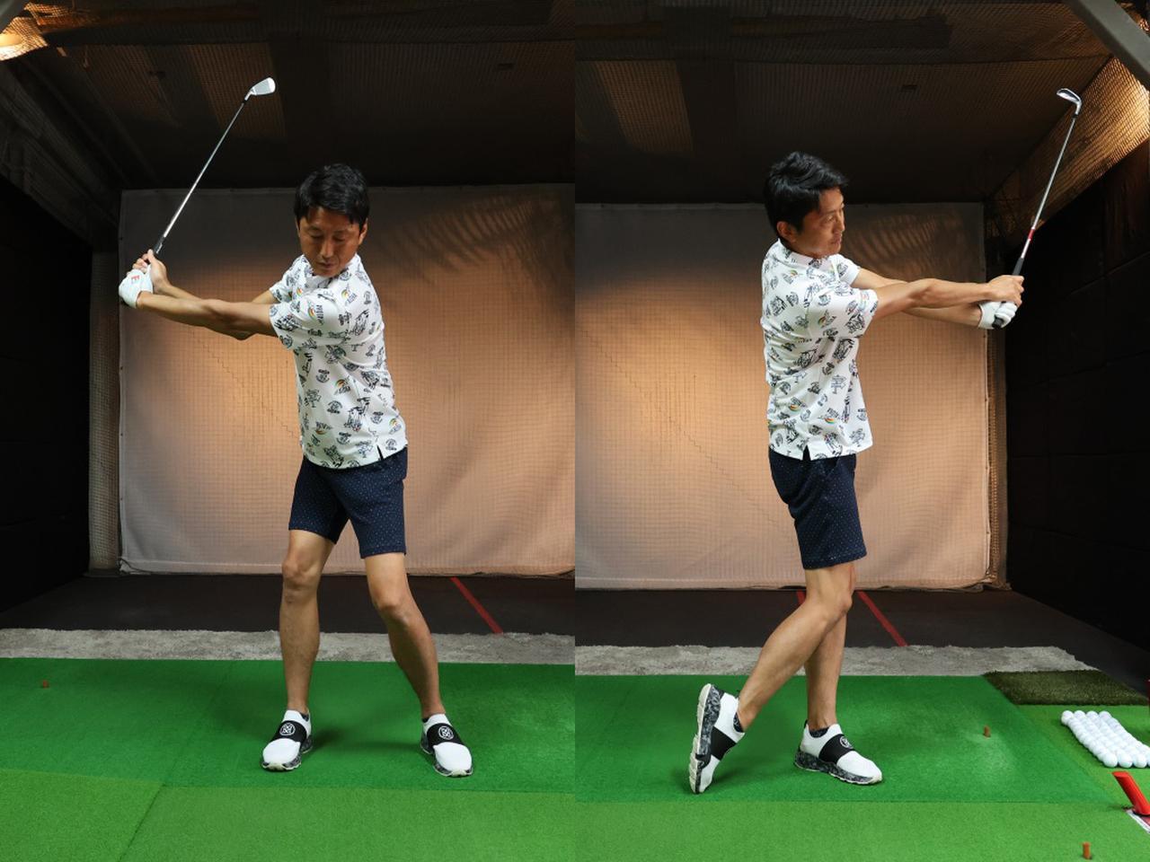 画像: コントロールショットになると、加減をしようと手打ちになりやすいが肩をしっかりと回して、腕を上げ過ぎないように振り幅に気をつけよう