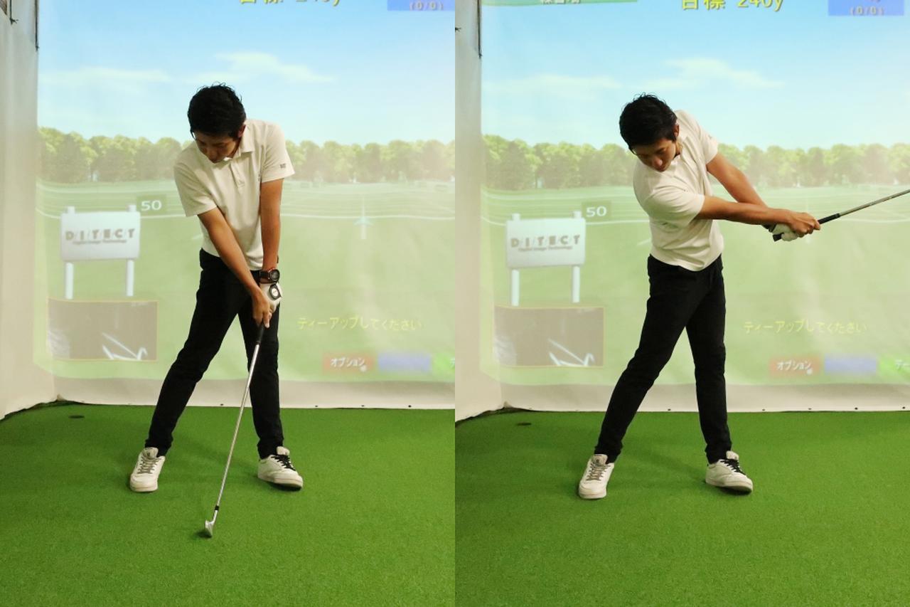 画像: インパクトでスウィングを止めずに振り抜くことで、ボールが目標方向へ長い時間押し出され、方向性と飛距離向上につながる