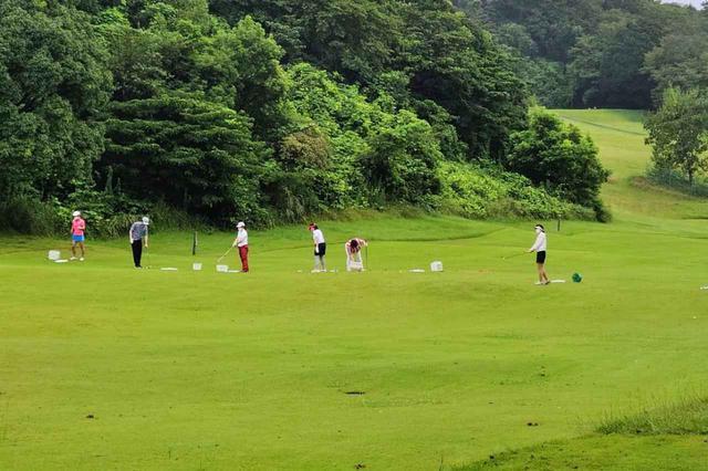 画像: マグレガーCCの練習ホール。芝から打つことができるため、より実戦的な練習が可能だ(写真提供/マグレガーカントリークラブ)