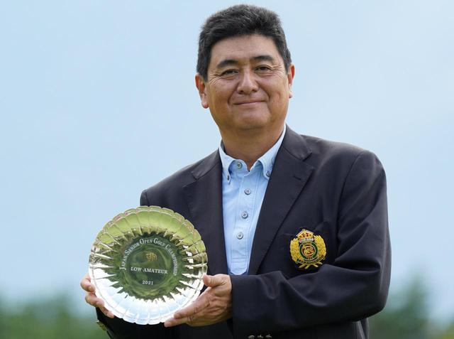 画像: 日本シニアオープンゴルフ選手権競技で史上最高順位(8位タイ)でローアマを獲得した水上晃男さん(撮影/矢田部裕)