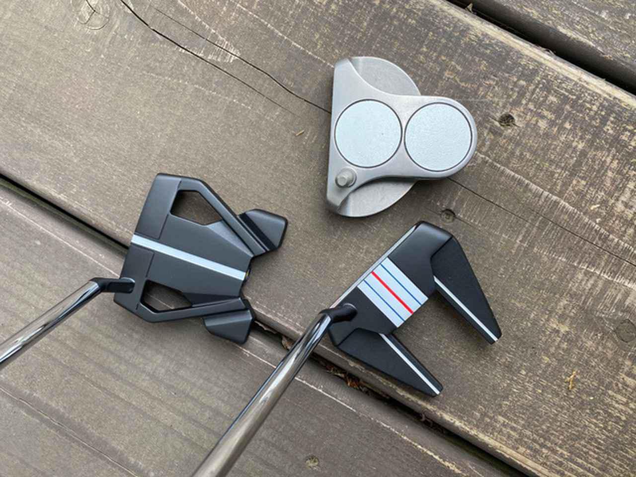 画像: 奇抜なディスクアライメントを定番マレット「ロッシー」を土台に表現した、初代「2ボール」パター(上)。このモデルのヒットでネオ・マレットデザインにゴルファーが慣れていったことが、現在の大型パターデザインの開発につながっている