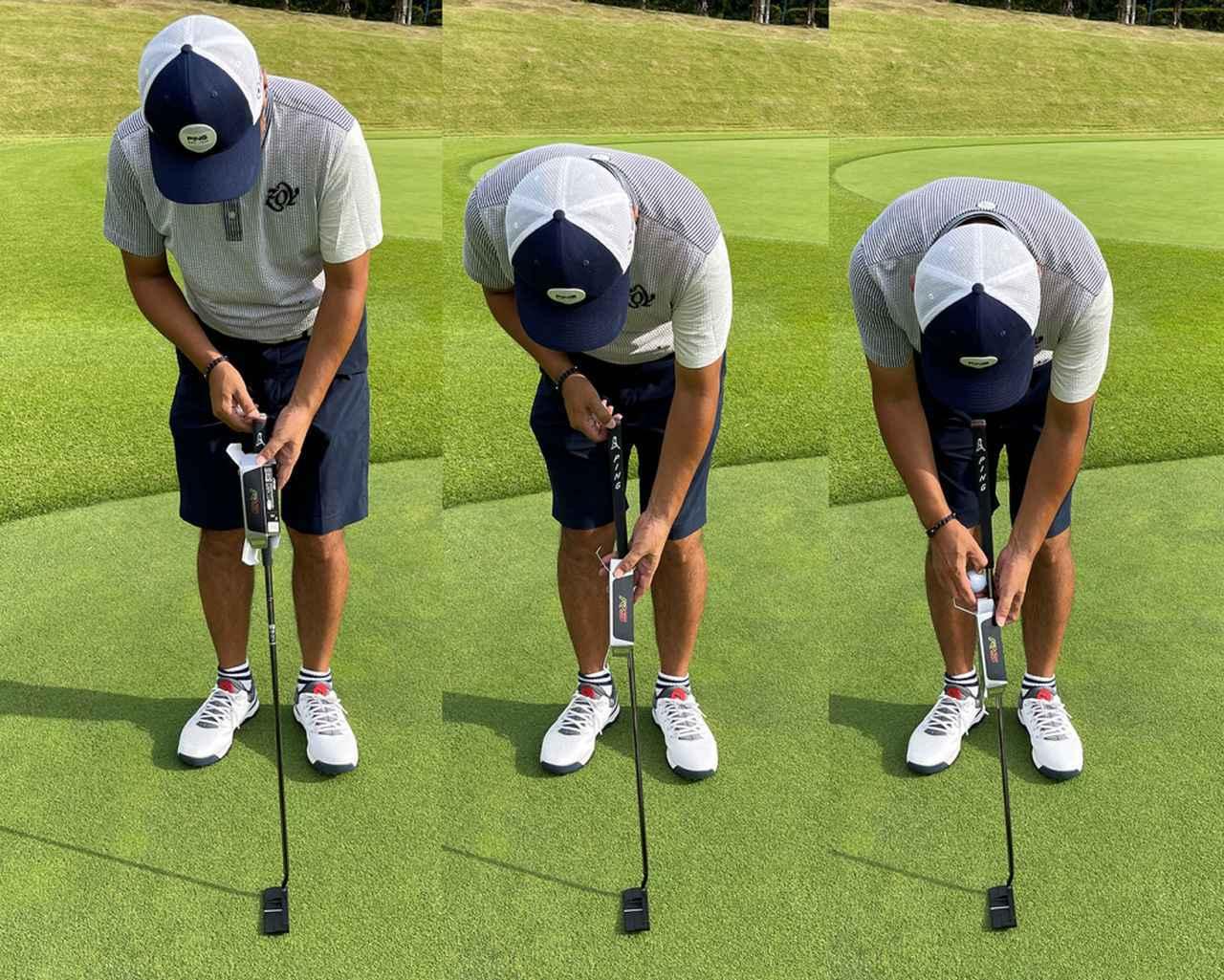 画像: シャフトにスリーブを通し、スリーブ面を調整してボールを挟み込み固定する