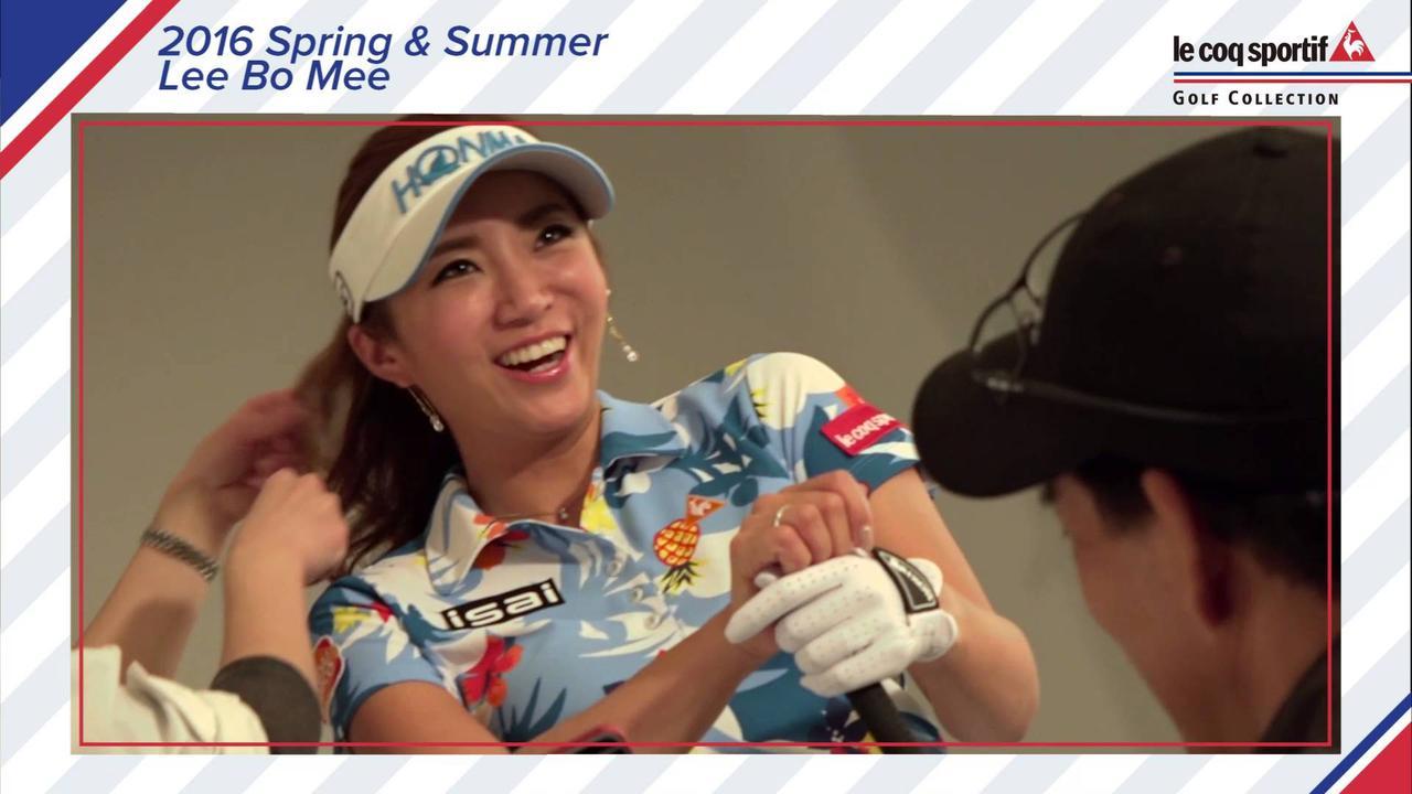 画像: ルコックゴルフ 2016年春夏ウエア イボミ メイキング映像 www.youtube.com