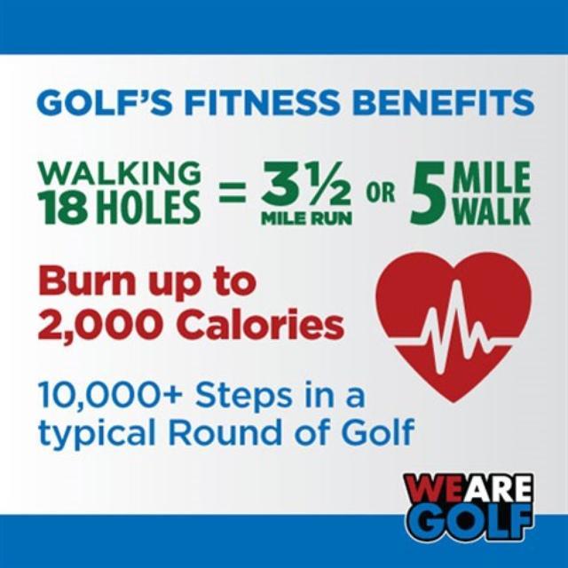 画像: ナショナルゴルフデー公式サイトに掲載された、ゴルフの健康効果を示す図 wearegolf.org