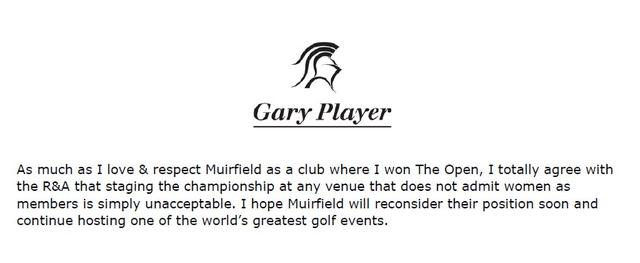 画像: Gary Player on Twitter twitter.com