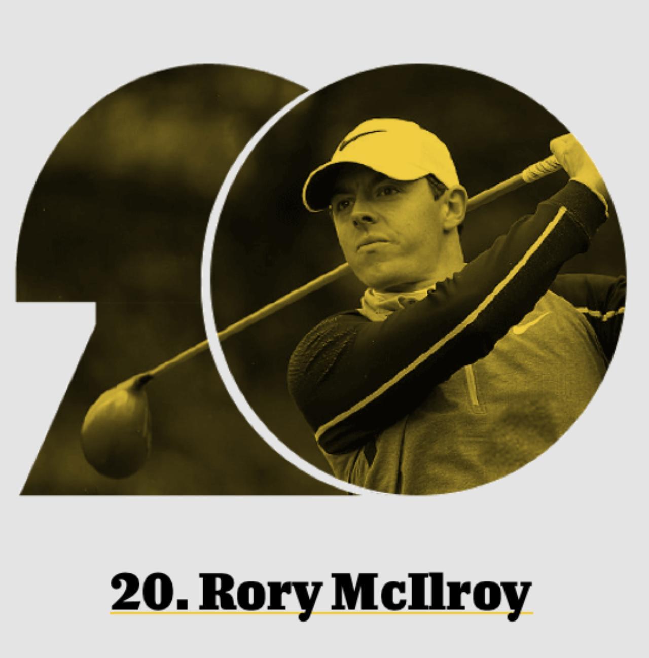 画像: 20位、ロリー・マキロイ