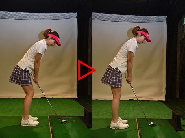 画像: 前傾を起こして構えれば、ひざの動きが抑えられるんだね。