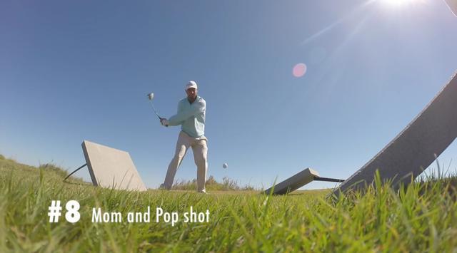 画像: トランポリン状態のボールを打ったり……