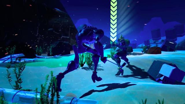 画像: 対戦相手にアイアンで攻撃(物理)をしかけるロボ。うん、これゴルフじゃないわ。 www.youtube.com