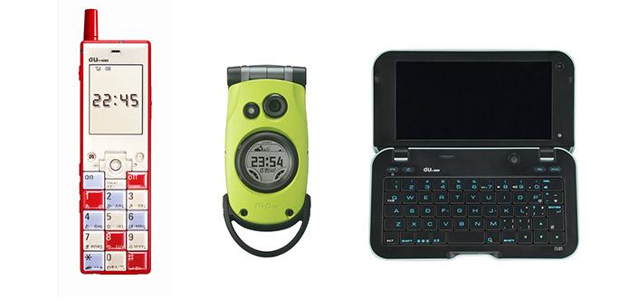 画像: デザインケータイの走り、インフォバー(左)。懐かしい! time-space.kddi.com