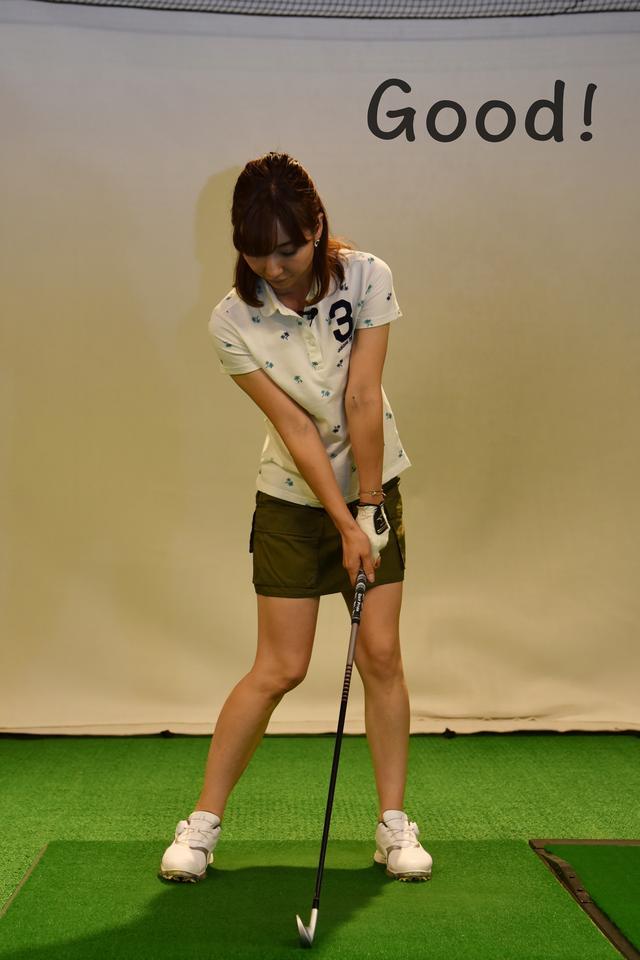 画像: 理想はこのように、左足に体重がしっかりと乗ったインパクトだ