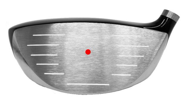 画像: 赤点で示したのがグランディスタLS-001の重心イメージ。ここより上が「有効打点」