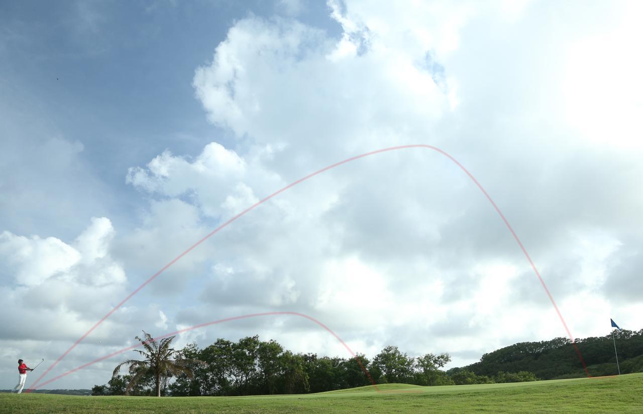 画像: 「球の高さ=飛距離」なのだ