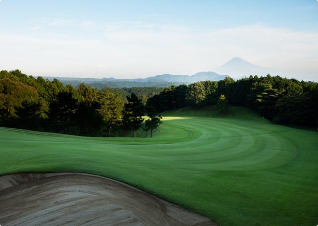 画像: 13番Par5 富士山が一望できる