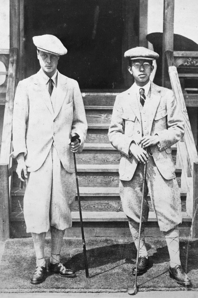画像: 1925年4月19日、駒沢で日英両皇太子による親善ゴルフが行われた際に撮影された写真。