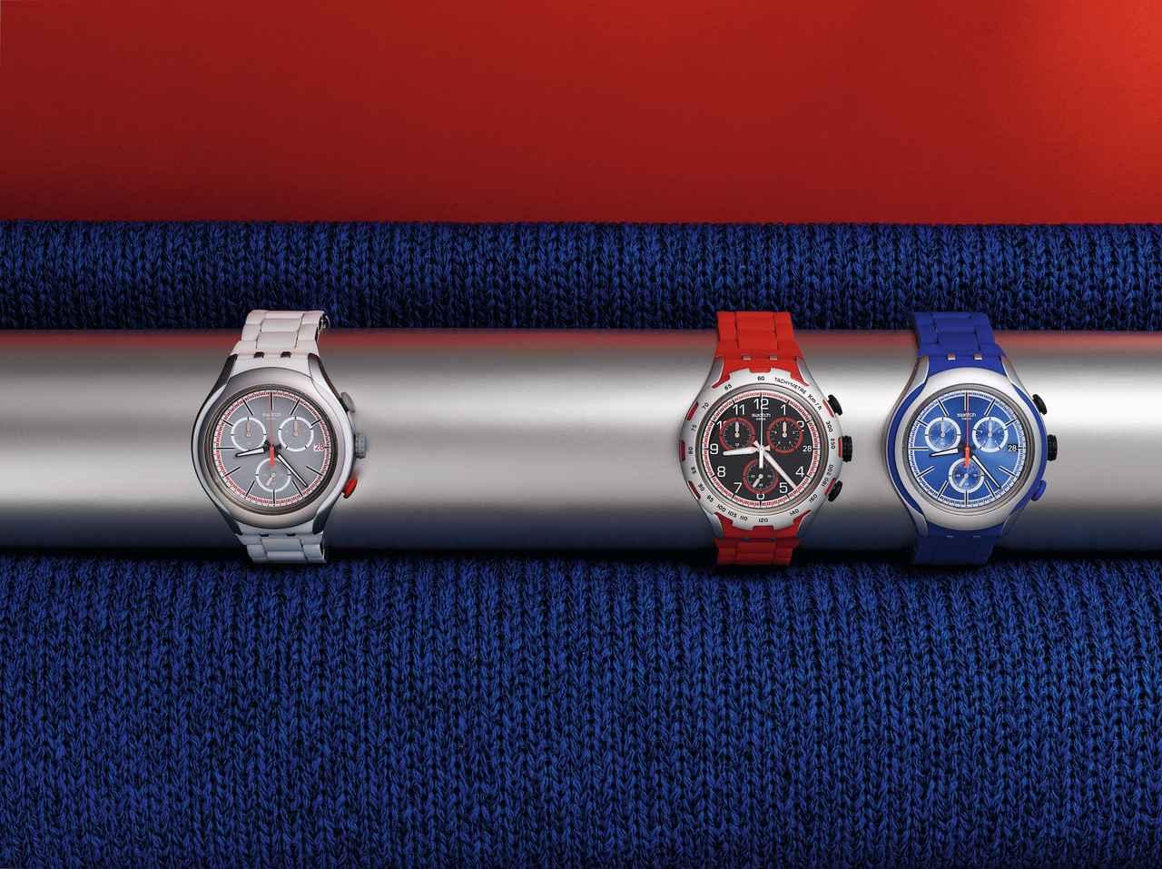 画像: 赤・青・白くらい揃えとく? ウェアに合わせて時計コーデ!