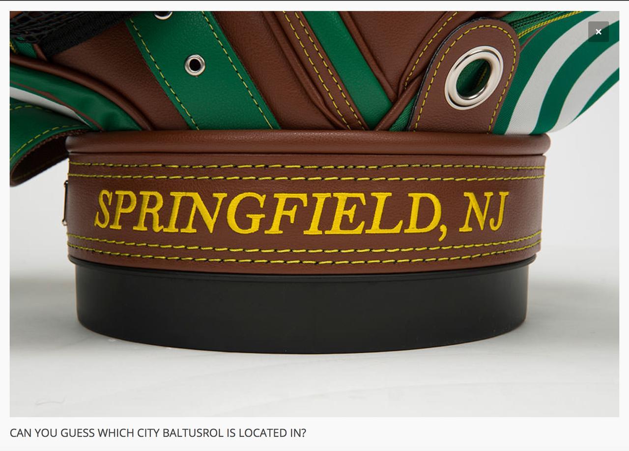 画像: バッグ底部にはバルタスロールの所在地、アリゾナ州スプリングフィールドの名が刻まれる