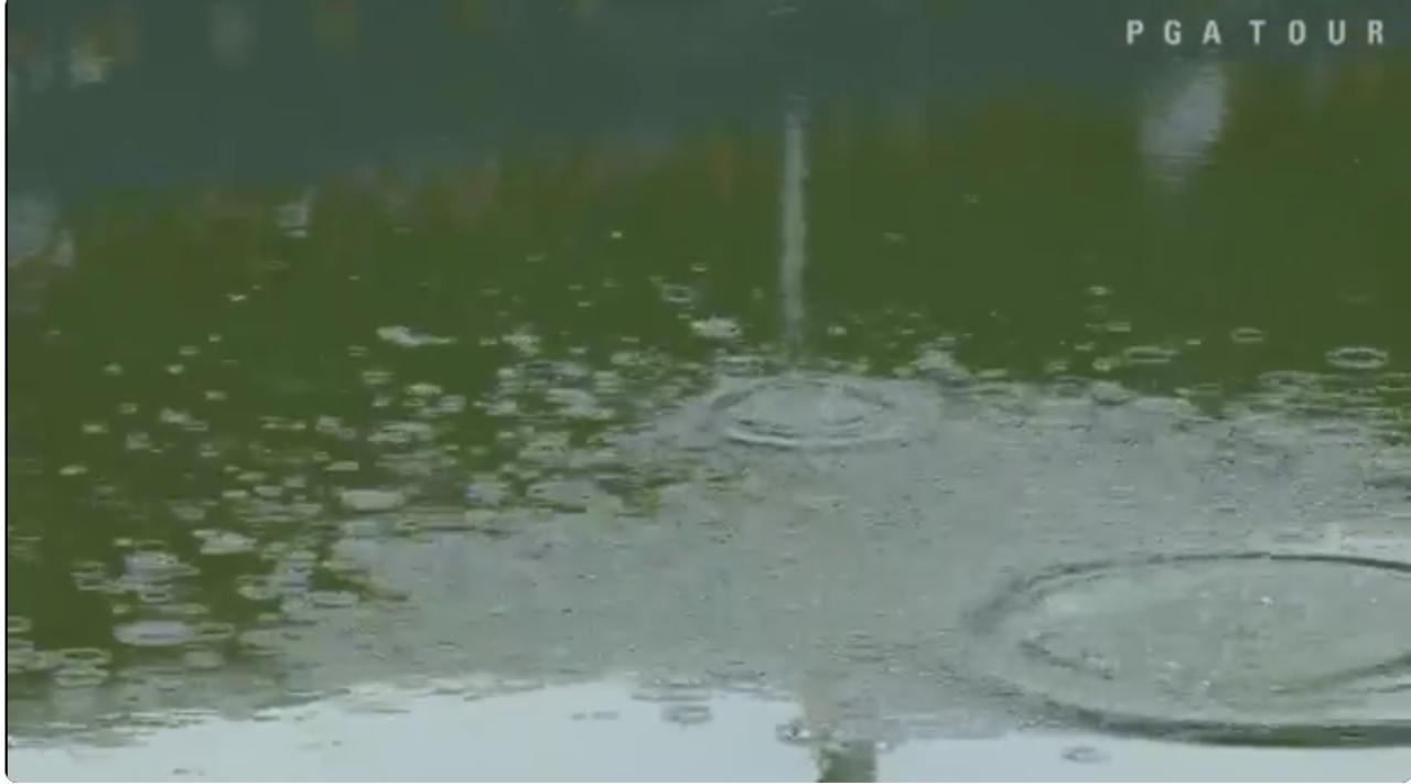 画像: あらら……池