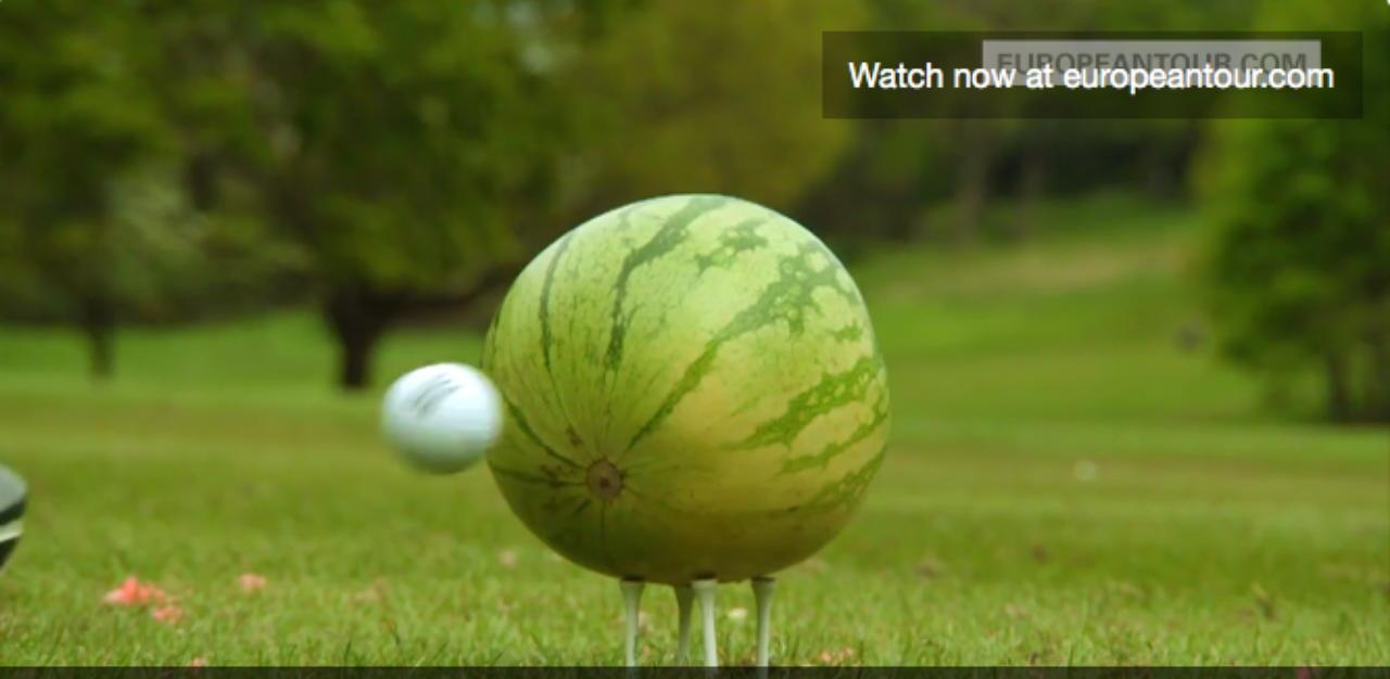 画像: そこにドライバーから放たれたボールが接近 twitter.com