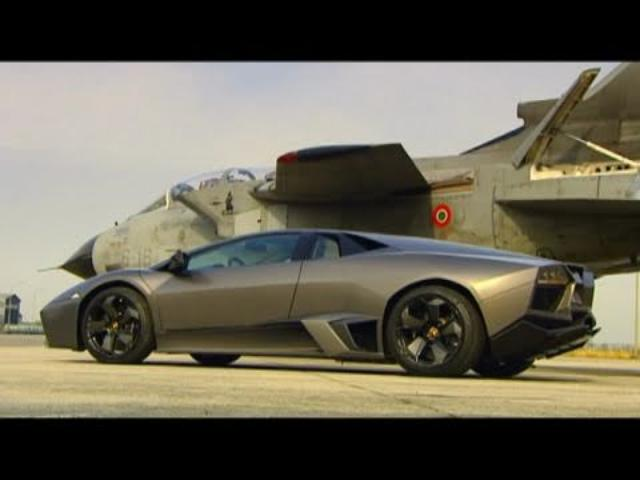 画像: Lamborghini Reventon vs Fighter Jet www.youtube.com